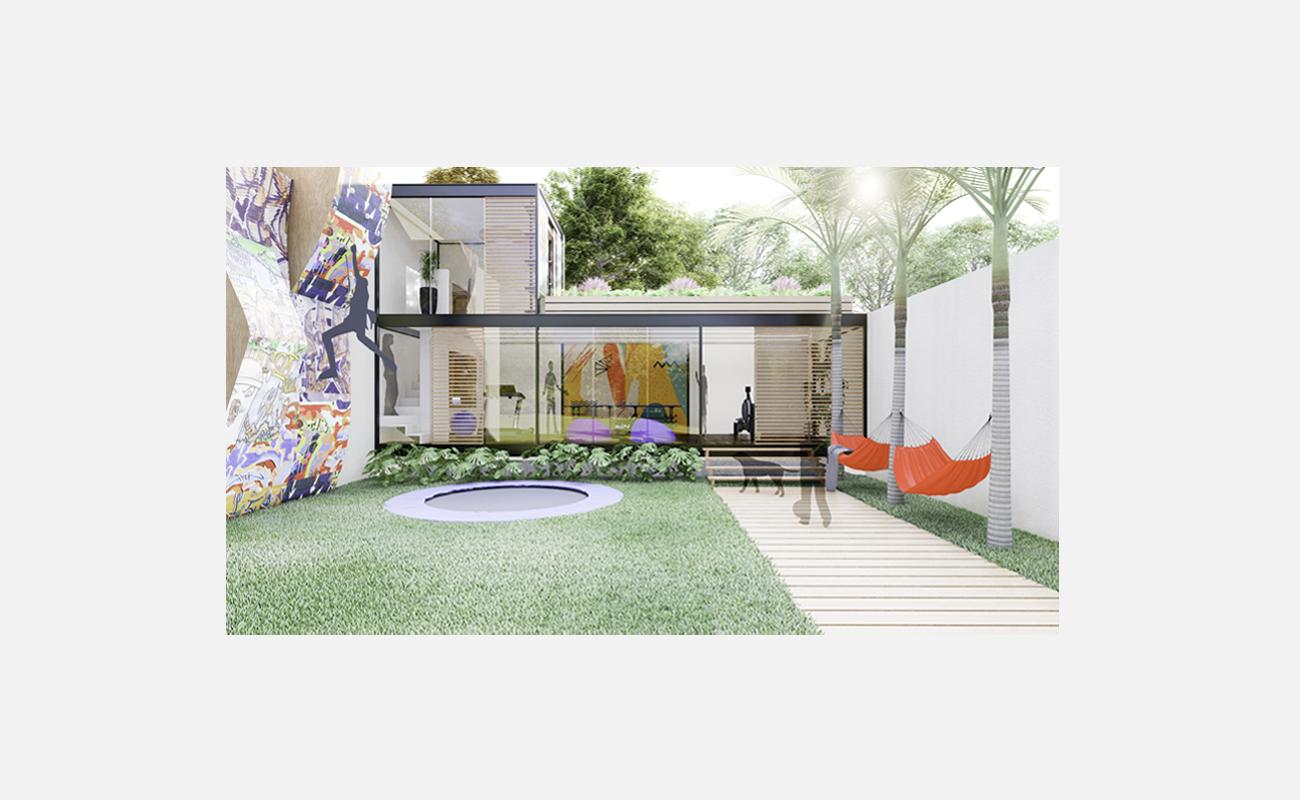 Room garden fachada patio