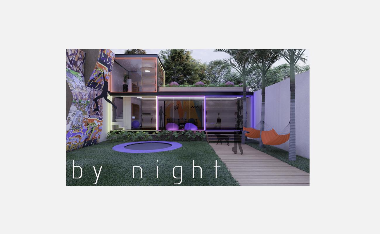 Room garden_luces noche